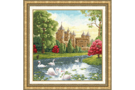 Swan Lake Cross Stitch Kit by Golden Fleece