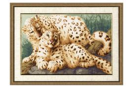 Winter Leopard Cross Stitch Kit by Golden Fleece