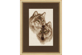 Wolves in love Cross Stitch Kit by Golden Fleece