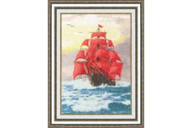 ?rimson Sails Cross Stitch Kit by Golden Fleece