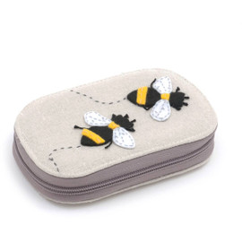 Premium Novelty: Applique Sewing Kit: Zip Case with Contents: Bee