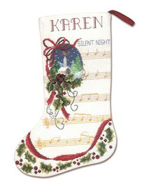 Silent Night Stocking Cross Stitch Kit By Janlynn