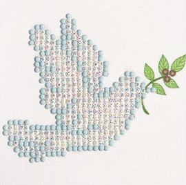 Dove of Peace Craft Kit By Diamond Dotz
