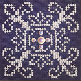 White on Blue Craft Kit By Diamond Dotz