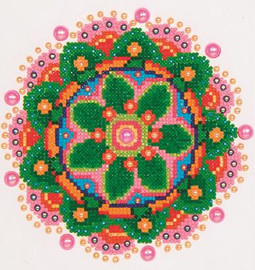 Flower Mandala Craft Kit By Diamond Dotz