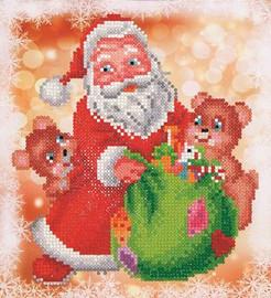 Santa and Teddies Craft Kit By Diamond Dotz