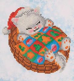 Snug Christmas Kitty Craft Kit By Diamond Dotz
