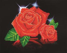 Red Rose Sparkle Craft Kit By Diamond Dotz