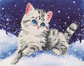 Kitten in the Snow Craft Kit By Diamond Dotz