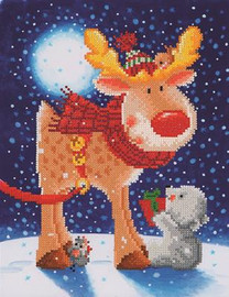Reindeer Gift Craft Kit By Diamond Dotz
