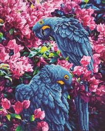 Blue Parrots Craft Kit By Diamond Dotz