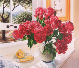 Roses by the Window Craft Kit By Diamond Dotz