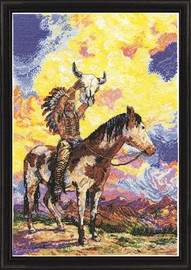 Native American Sunset Cross Stitch Kit By Design Works