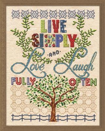Live Simply Cross Stitch Kit By Design Works