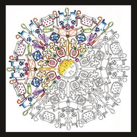 Zenbroidery - Kitchen Mandala Embroidery Kit By Design Works