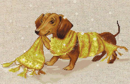 Dachshund Cross Stitch Kit By Luca S