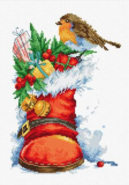 Christmas Boot Cross Stitch Kit By Luca S