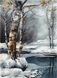 The Winter Petit Point Cross Stitch By Luca S