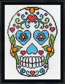 Sugar Skull Cross Stitch Kit By Design Works