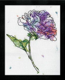 Lilac Floral Cross Stitch Kit By Design Works