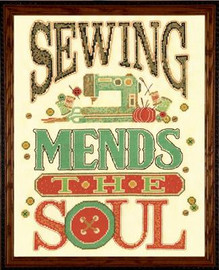Mend the Soul Cross Stitch Kit By Design Works