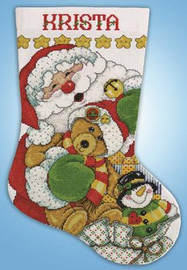 Santa  Christmas Stocking Kit By Design Works