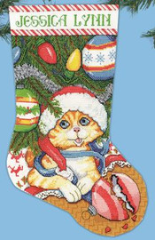 Kitten Stocking Christmas Stocking Kit By Design Works