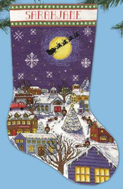 Christmas Eve Stocking Christmas Stocking Kit By Design Works
