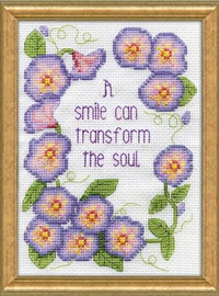 Morning Glories Cross Stitch Kit By Design Works