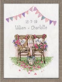 Wedding Chairs Cross Stitch Kit By Design Works