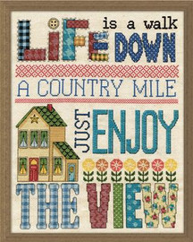 Country Mile Cross Stitch Kit By Design Works