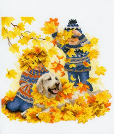 Autumn holidays Cross Stitch Kit By Riolis