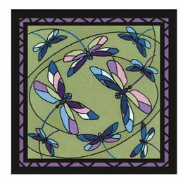 Dragonflies Cushion Panel Cross Stitch Kit By Riolis