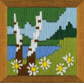 Forest Lake Long Stitch Kit By Riolis