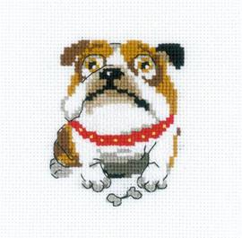 English Bulldog Cross Stitch Kit By Riolis