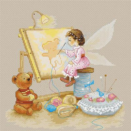 Stitching Fairy Cross Stitch Kit By Luca S