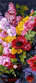 Bouquet Champetre Tapestry Canvas By Grafitec