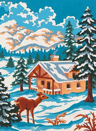 Winter Wonderland Tapestry Canvas By Grafitec