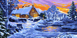 Reflections in the snow Canvas By Grafitec