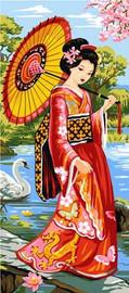 Geisha Garden CANVAS By Grafitec