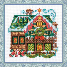 Cabin with a Bell Cross Stitch Kit By Riolis