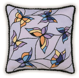 Butterflies Cushion- panel Cross Stitch Kit By Riolis