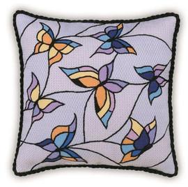 Butterflies Cushion- panel Cross Stitch Kit By Riolis