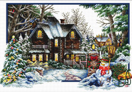 Winter comes No Count Cross Stitch Kit By Riolis