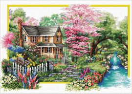 Spring Comes No Count Cross Stitch Kit By Riolis