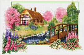 Spring Cottage No Count Cross Stitch Kit By Riolis