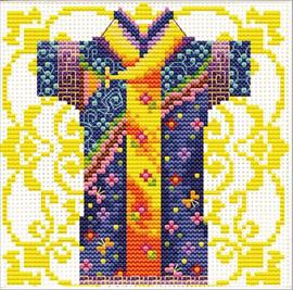 Samurai Blue No Count Cross Stitch Kit By Riolis