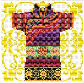 Samurai Mauve No Count Cross Stitch Kit By Riolis