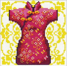 Geisha Red No Count Cross Stitch Kit By Riolis