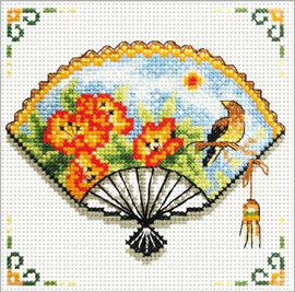 Nasturtuim Fan No Count Cross Stitch Kit By Riolis